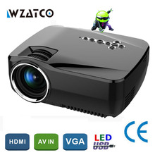 WZATCO GP70up Android 4.4 WiFi Bluetooth Smart hd beamer Portable Mini LED LCD game projector home theater Proyector Projetor(China)