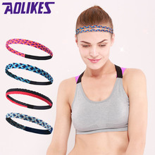 AOLIKES 1 Pcs Weave Elastic Yoga Sweatband For Women Men Running Hair Bands Fitness Sweat Bands Sport Headband Wholesale(China)