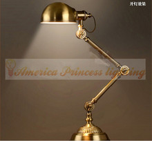 Robots bronze table lamp Study and work study bedroom lamp bedside reading lights,E27,AC110-240V