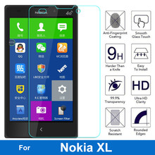 0.26mm 2.5D Ultrathin Premium Tempered Glass Film For Microsoft Nokia XL NokiaXL 4G Dual Sim Screen Protector Protective Film
