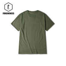 FORGIVENESS American street fashion wind port simple army green, tee men's slim T-shirt lovers.