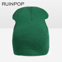 RUINPOP Candy Color Cute Spring Autumn Children Hats Kids Winter Hats for Girls Boys Kintting Skullies Beanies Caps