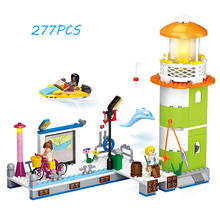 Models building toy 0607 278pcs Girl Friend Pink Dream Pier Wharf Beacon Lighthouse Building Blocks compatible with lego(China)