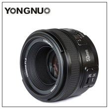 Yongnuo YN50mm F1.8 AF Lens Larger Aperture Auto Focus for Nikon DSLR Camera New D7200 D5300 D5200 D750 D500 D4s(China)