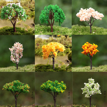 24 Pcs/ artificial trees/doll house/sand model/miniatures/fairy garden/terrarium/bottle garden/mini plants/home table decor/