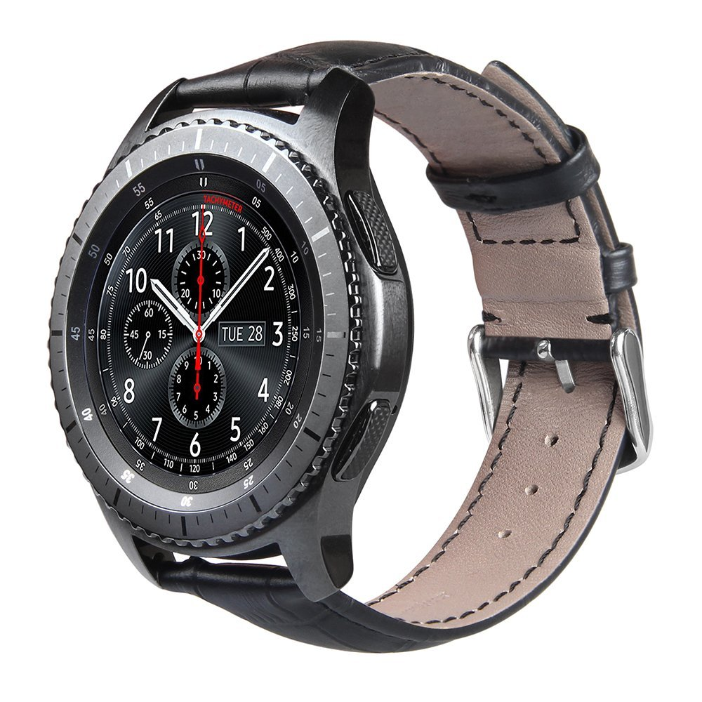 V-MORO 22m Genuine Leather Band For Gear S3 Smart Watch Band Replacement Watch Bracelet For Gear S3 Classic frontier Smart watch<br><br>Aliexpress