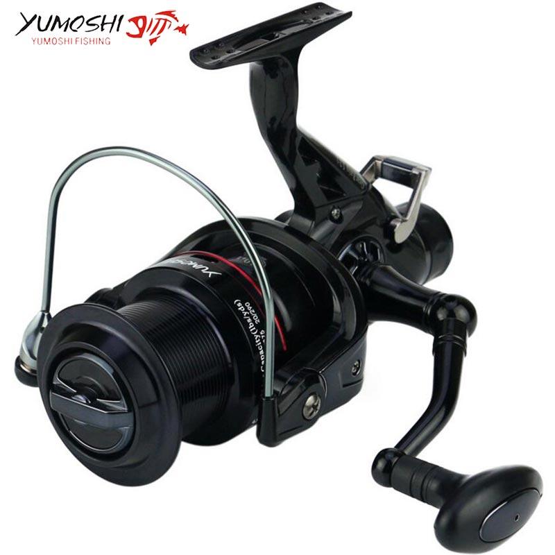 New build Yumoshi KM50/60 black 11BB Brake Fishing Reel G-Ratio 5.2:1 fly fishing reel Carp Feeder Spinning Fishing Reels<br>