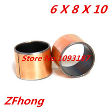 Buy SF-1 6*8 Self Lubricating Composite Bearing Bushing Sleeve length 10mm
