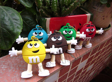 Best sale cartoon chocolate M&M USB 2.0 usb flash drives  4gb 8gb 16gb 32gb 64gb USB Stick memory Pendrive U Disk creative Gift