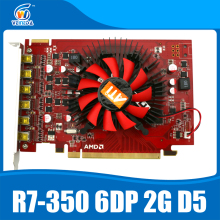 100% Original New ATI Chipset R7 350 2GB GDDR5 6DP Multiscreen Display Card
