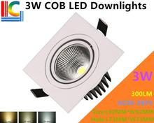 COB 3W Rectangular LED Downlights 85-265V Recessed Ceiling light CE Ultra bright Home Furnishing lighting Grille lamp 4PCs/Lot(China)