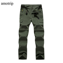 amotrip Summer Outdoor Sports Quick Dry Pants Men Women Camping Climbing Trekking Hiking Pants Removable Thin Breathable Trouser