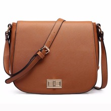 LT1662 Miss Lulu 2pcs Women Designer Celebrity PU Leather Small Cross Body Messenger Satchel Bag Brown Black Grey Navy