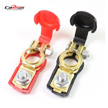 CARSUN Auto Car Battery Terminal Connector Battery Pair of 12V Quick Release Battery Terminals Clamps For Car Caravan(China)
