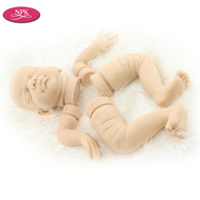 NPK Limited Edition Solide Silicone Version Reborn Baby Doll Kits Accessories Set Very Soft Real Touch Heand 3/4 Arms Full Legs