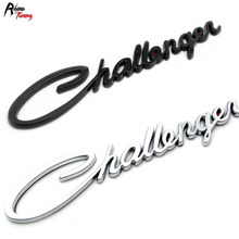 Rhino Tuning 5pc Silver Challenger Rear Car Emblem for R/T SRT8 SRT10 SRT4 SXT Challenger Fender Car Badge Sticker 381(China)
