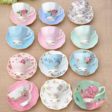 2 PCS China Tangshan Guci coffee cup set ceramic dish British afternoon tea creative variety of high-grade cups 180ml