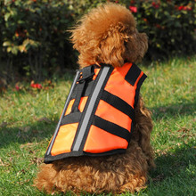 Orange Dog Pet Float Life Jacket Life Vest Aquatic Safety Swimming Suit Boating Life Jacket S/M/L