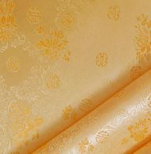 90cm*100cm COS costume brocade fabric cheongsam Textile Packaging Materials / shallow gold at the end neroli dress fabric(China)