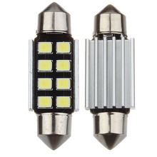 Hot Sale Festoon 8 SMD CANBUS Car LED Bulbs Interior Reading Dome Lights auto roof lamp Pure White 12V 31 36mm
