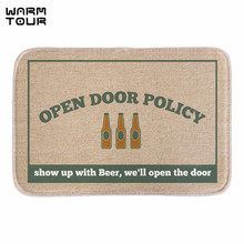 Buy WARM TOUR Funny Doormat Open Policy Wine Printed Soft Lightness Home Decorative Door Mats Bathroom Rug Floor Mats Short Fabric for $11.73 in AliExpress store