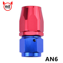 evil energy Aluminium Fitting An 6 An6 0 Degree Swivel An Fitting Adapter Hose End Oil Fuel Reusable Fitting(China)