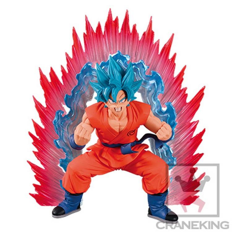 100% Original Banpresto Cho Shingi Den Collection Figure - SSGSS Son Gokou Kaioken Blue from Dragon Ball SUPER<br>