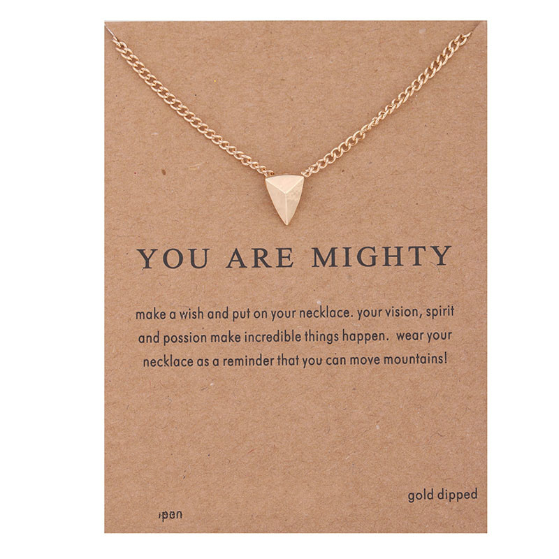 Mighty Triangle Punk Alloy Gold-color Shorts Chains Clavicle Necklaces & Pendants Fashion Jewelry For Women
