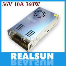 New 36V 10A 360W Switching Power Supply Driver Switching For LED Strip Light Display 110V/220V free shipping