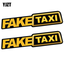 YJZT 20CM*4.3CM 2X FAKE TAXI Reflective Funny Car Sticker Car Window Decal C1-7511(China)