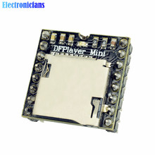 Free Shipping DFPlayer Mini MP3 Player Module MP3 Voice Decode Board For Arduino Supporting TF Card U-Disk IO/Serial Port/AD