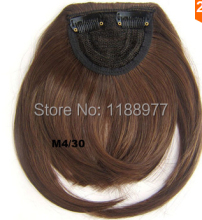 Clip in on synthetic hair bang front hair fringe hair frinde M4/30,30g, 1pc