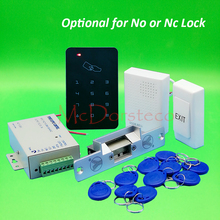 Brand New DIY Rfid Door Access Control Kit Set With No or Nc Electric Strike Lock+10 RFID keyfob Card Full Access Control System