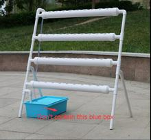 Free shipping,Hydroponics equipment,1set,Ladder type family balcony vegetables soilless pipe rack pipe external vegetables(China)