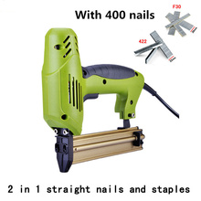 1800W 2 In 1 Framing Tacker Eletric Nails Staple Gun 220V Electric Power Tools Electric Stapler Gun With 400 Nails