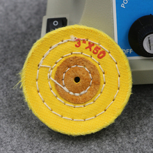 3'' 75mm Yellow Sawing Cloth Polishing Wheel for Various Glazing Machine to Buffing Metals & Grinding Crystal 50 Floors Covers