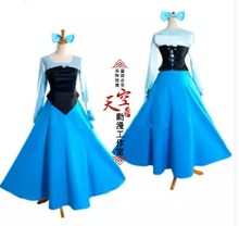Princess Ariel Cosplay Dress From The Little Mermaid Ariel Cosplay Costumes Party Dress Halloween Cos Free Shipping
