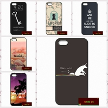 Funny Slide to unlock Capa Phone Cases Cover For iPhone 4 4S 5 5S 5C SE 6 6S 7 Plus 4.7 5.5   #SE1491