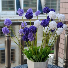European country home Garden 5 Heads small Hydrangea lavender flower ball / artificial flowers / decorative silk flower MA1795