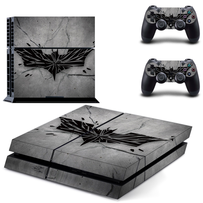 Batman Style Vinyl Skins Sticker Sony PS4 PlayStation 4 2 Controllers Skins Cover DPTM0471