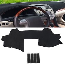 Black Felt Car Inner Dashboard DashMat Sun Cover Pad Sun Visors Mat Sun Shade For TOYOTA Camry 2006-2011