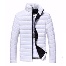 Mens Jackets And Coats Casual Autumn Winter Jacket Thin Outerwear Solid Zipper Cotton Coat Men Bomber Jacket Colete DP901134