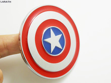 7cm Universal Full Metal Car Exterior Styling Decoration Chrome Metal Captain America Shield Logo Car Emblems Stickers Accessory
