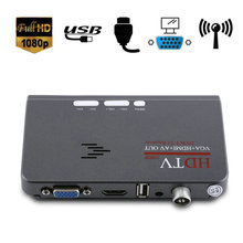 YOUTHINK Digital 1080P HD HDMI DVB-T2 TV Box Tuner Receiver Converter Remote Control With VGA Port