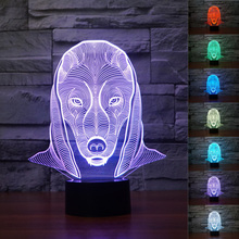 Xmas Color changing 3D Optical Illusion LED Art Sculpture Egyptian Pharaoh King Nasus Night Lights Desk Lamp with Touch Control(China)