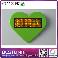 high quality led name card tag rechargeable and programmabe led moving messages business card, new year gifts