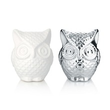 2 pieces/set M-Fun Lovely Cartoon Owl Shaped Money Box High Quality Ceramic Piggy Bank Creative Northern European Saving Pot(China)