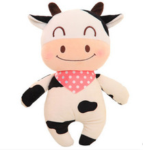 38cm/48cm super cute cow plush toy pillow doll, cattle stuffed animal doll creative wedding gift birthday gift