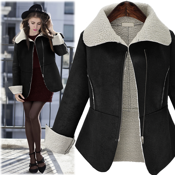Women Overcoat Fashion Outerwear New Spot European Winter Faux Suede Short Thickening Lambs Wool Cotton Coat Long Sleeve ClothesОдежда и ак�е��уары<br><br><br>Aliexpress