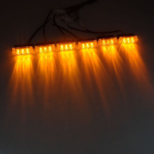 Wholesale 18LED car truck boat motorcycle Flash Strobe snowy raining Emergency Light Amber, 3X6 panels warning light(China)
